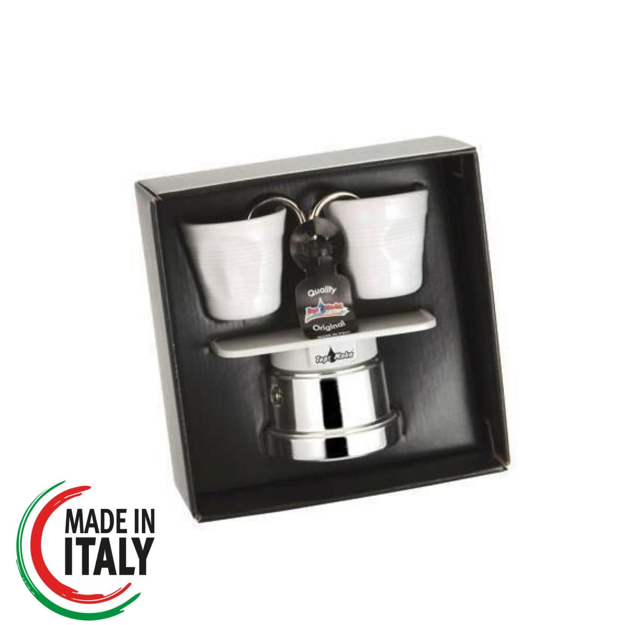 Set Espressor Moka Reginetta Alb