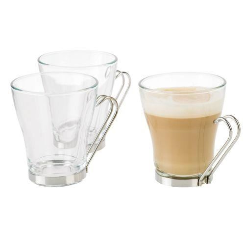 Set Pahar Cappuccino 220 ml set 3 buc