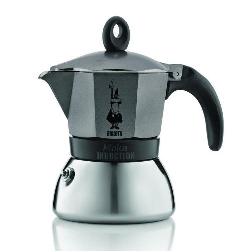 Espressor Bialetti Moka Induction Antracite, 6 cesti