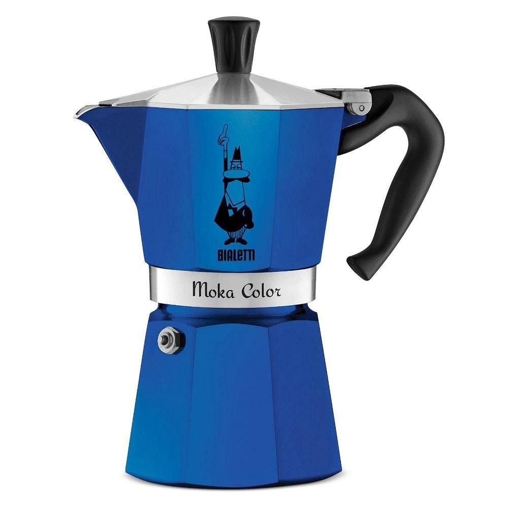 Espressor Bialetti Moka Color Blu 3 Cesti