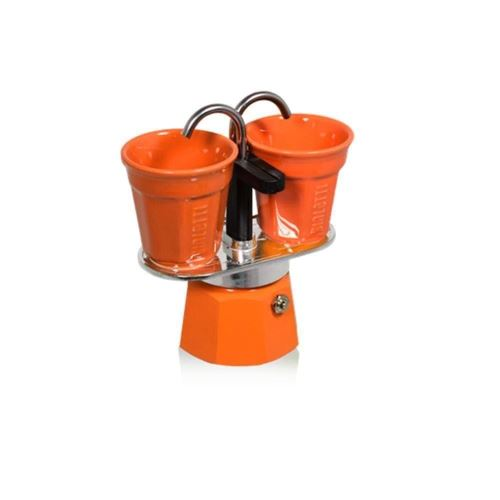 Set espresso Bialetti MINI Orange+ 2 pahare cafea