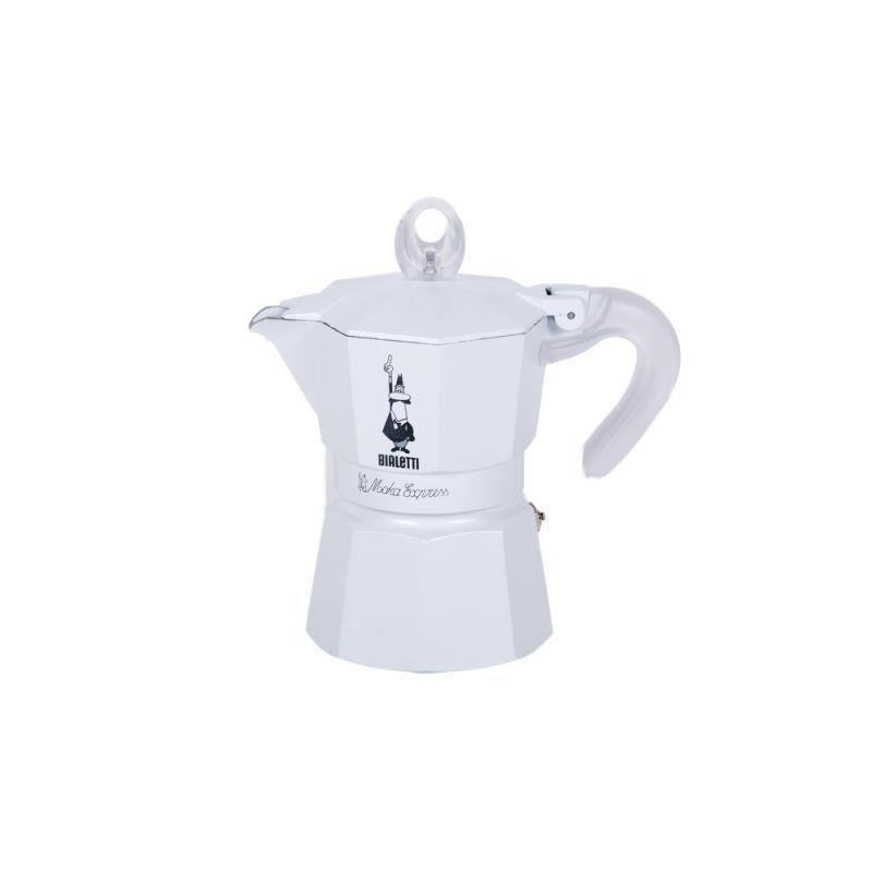 Bialetti Glossy Ceramic alb 3 Cesti