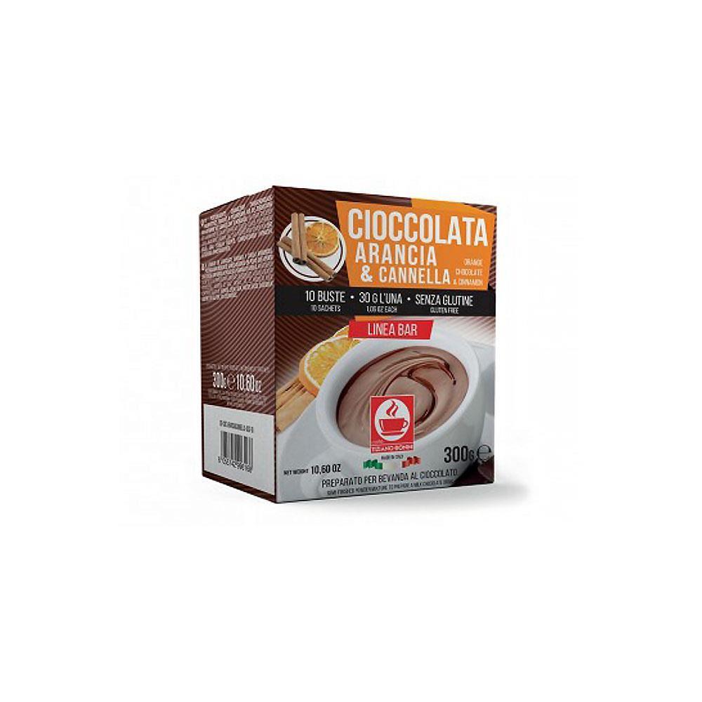 Ciocolata calda TIZIANO BONINI portocala & scortisoara, 10 buc