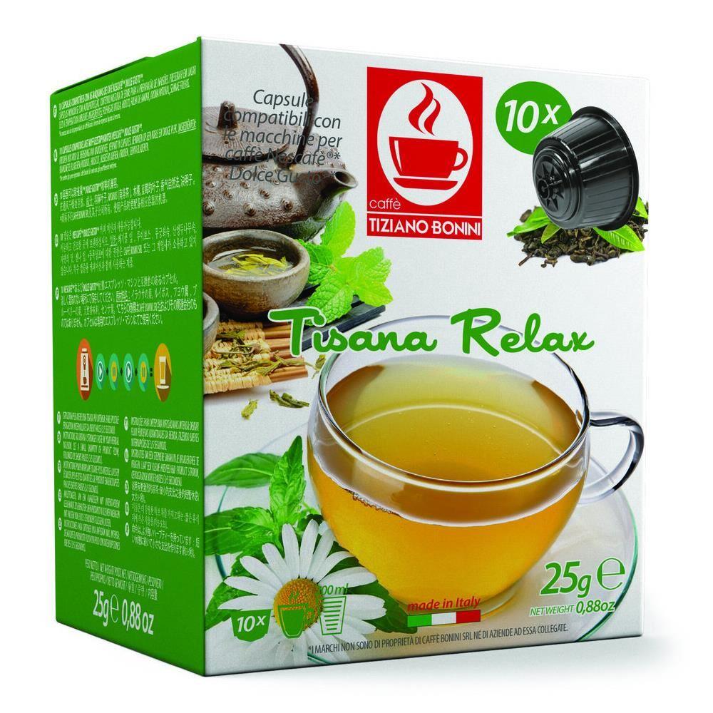 Capsule ceai relaxant TIZIANO BONINI, compatibile DOLCE GUSTO, 10 buc.