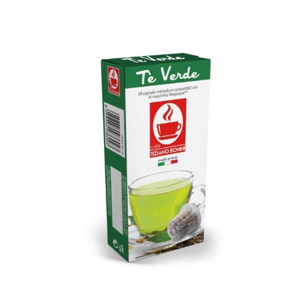 Capsule CEAI verde TIZIANO BONINI, compatibile NESPRESSO, 10 buc.