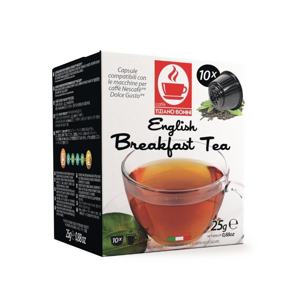 Capsule ceai english breakfast TIZIANO BONINI, compatibile DOLCE GUSTO, 10 buc.