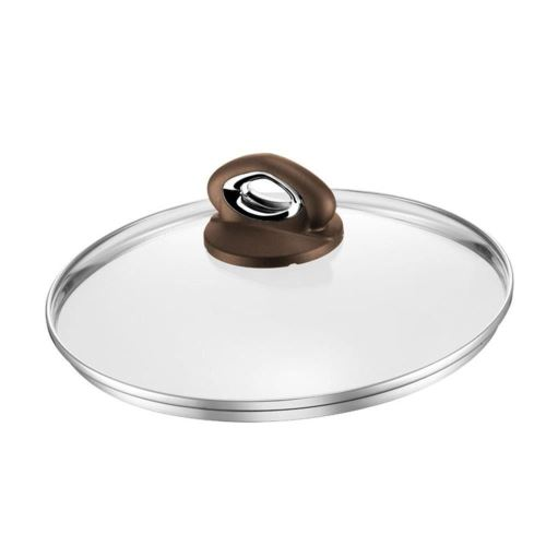 Capac Bialetti Ceramic Brown Inductie, 20 cm