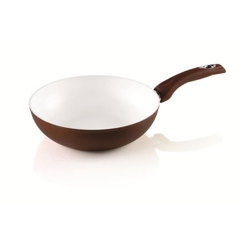 Tigaie WOK Bialetti Ceramic Brown (Inductie) 28 cm