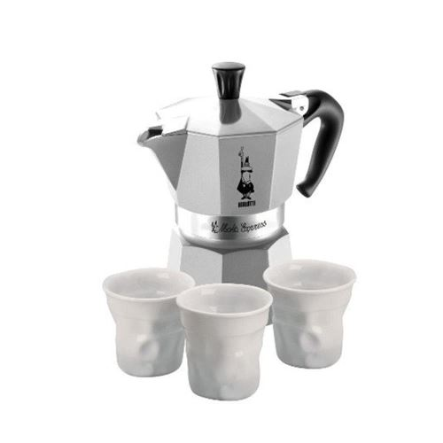 Set espresso moka together Bialetti WHITE 4 piese