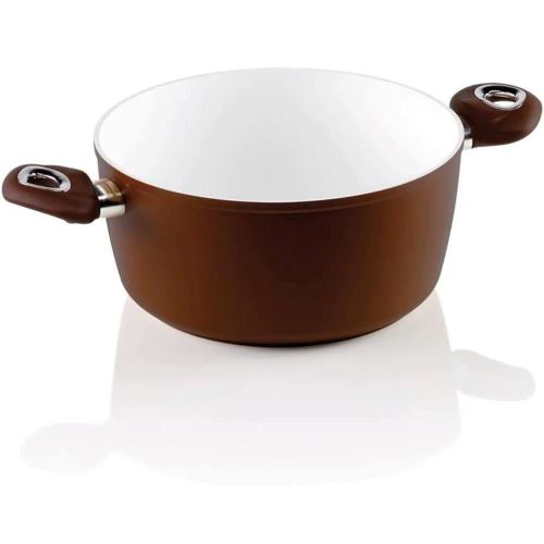Cratita 2 manere Bialetti Ceramic Brown 24 cm